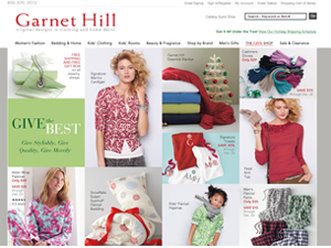 garnet hill online coupon